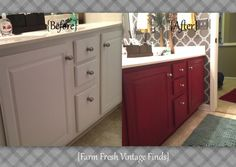 How to Transform Your Bathroom Vanity with Annie Sloan - Farm Fresh Vintage Finds