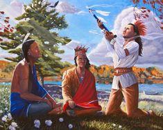 Dekanawida and the Great Peace by Artist Steve Simon