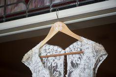 Becky's Brides – Birmingham Wedding Planner- Emily and Cody – Alisha Crossley Photography – Hothouse Design Studio – Dress with Monogram Hanger