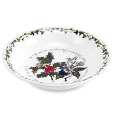 The Holly and the Ivy Portmeirion collection bowl. Perfect for the Christmas table. #HollyandtheIvy #Christmas #Christmas2016 #Portmeirion #Table