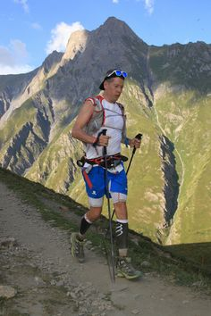 Heading into Courmayeur, Italy, on trail Mont-Blanc.