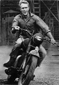 Steve McQueen's introduction to Triumph motorcycles - Telegraph **Because if you're into motorcycles, you should pay homage to Steve McQueen and The Great Escape Triumph Motorcycles, Triumph Scrambler, Vintage Motorcycles, British Motorcycles, Indian Motorcycles, Vintage Bikes, Custom Motorcycles, Custom Bikes, Vintage Cars