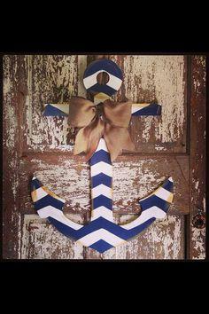 burlap door hanger how to, anchors, chevron anchor door, front doors, anchor obsess