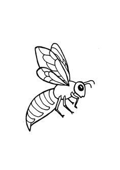 Coloriage pour enfant d'un dessin d'abeille