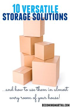 10 Versatile Storage Solutions... and how to use them in almost every room of your house! #storage #clutterfree