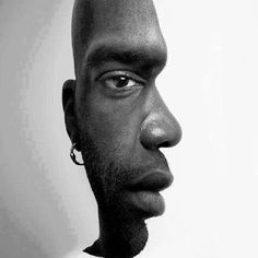 Which face did you see first? Face forward or face to the side? Ambiguous Images. #illusion