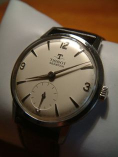 Vintage Tissot Seastar. Love it! - mens gold watch black face, watch online buy, large mens watches *sponsored https://www.pinterest.com/watches_watch/ https://www.pinterest.com/explore/watch/ https://www.pinterest.com/watches_watch/kids-watches/ http://www.ebay.com/rpp/watches