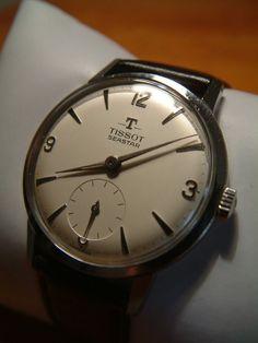 Vintage Tissot Seastar. Love it! - mens gold watch black face, watch online buy, large mens watches *sponsored https://www.pinterest.com/watches_watch/ https://www.pinterest.com/explore/watch/ https://www.pinterest.com/watches_watch/kids-watches/ http://www.ebay.com/rpp/watches