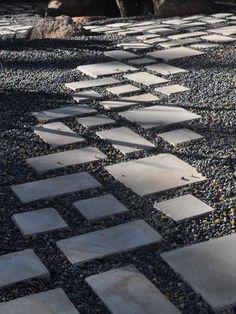 kieswege gestalten-trittsteine design-minimalistische ideen