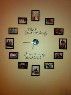Time Spent With Family Is Worth Every Second Vinyl Lettering Clock - How to get vinyl lettering to stick to textured walls