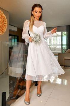 Civil Wedding Dresses, Designer Bridesmaid Dresses, Ceremony Dresses, Wedding Dress Train, Prom Dresses Long With Sleeves, Mini Dress With Sleeves, Bride Party Dress, Confirmation Dresses, Elegant White Dress
