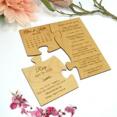 The enchanting Limited Edition Engraved Wooden Puzzle Wedding Invitation With Regard To Creative Invitations picture below, is part of Creative More View! Original Wedding Invitations, Wedding Invitation Fonts, Making Wedding Invitations, Beach Theme Wedding Invitations, Invitation Envelopes, Invite, Destination Wedding Themes, Wedding Venues, Wedding Programs