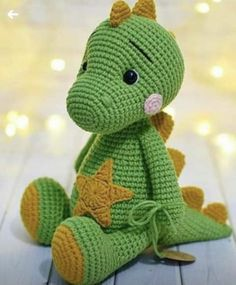 Photo by NrpywkN AAR AeTeN on March can find Crochet patterns and more on our website.Photo by NrpywkN AAR AeTeN on March Crochet Dinosaur Patterns, Crochet Dragon Pattern, Crochet Amigurumi Free Patterns, Crochet Doll Pattern, Diy Crochet Toys, Crochet Dolls, Crochet Monsters, Crochet Animals, Baby Sewing Projects