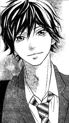 Manga Anime, Anime Guys, Anime Art, Kawaii Chibi, Kawaii Anime, Anime Boy Smile, Futaba Y Kou, Ao Haru Ride Kou, Tanaka Kou
