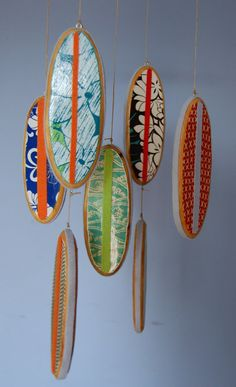 So darn cute! Mobile Baby Crib Mobile Surfboard Mobile for by outofthebox, $85.00