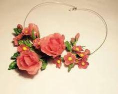 Resultado de imagen para collares de flores de  ceramica