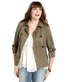 American Rag Plus Size Military Double-Breasted Jacket