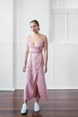 ORDEN WRAP DRESS - BLUSH PINK | Nice Martin