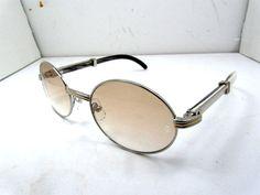2011 new Cartier 7550178 Black Mix white Buffalo Sunglasses in S