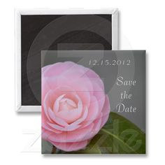 Spring Pink Rose Save the Date Magnet