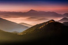 First Light - Velky Rozsutec, Mala Fatra Mountains, Slovakia One Light, Beautiful Landscapes, Landscape Photography, In This Moment, Mountains, Park, Hostel, Travel, Viajes