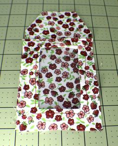 Place-the-pocket-Piece-onto-a-main-fabric-piece-831x1024 How to Sew DIY Luggage Tags
