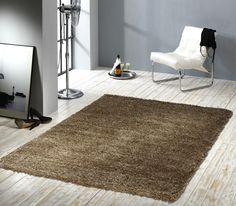 """Design Hochflor Teppich """"Mellow"""" in der Farbe Braun Weitere tolle Design Teppiche & Wohnaccessoires finden Sie unter: www.beganta.de"""
