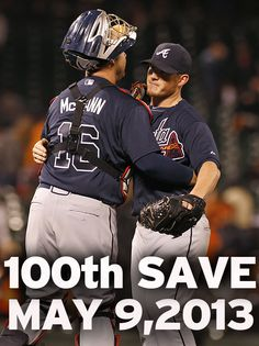 Atlanta Braves pitcher Craig Kimbrel records his 100th save!