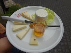 Buffalo Milk Ricotta, Acacia Honey, Sheep Cheese (Pecorino) with chili pepper and pepper