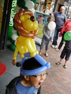 Lion on a hat