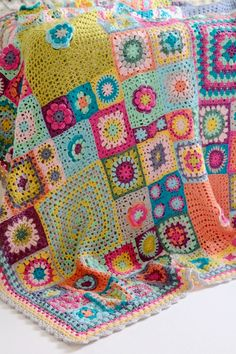 Vintage Sweethearts Blanket: This blanket has been inspired not only by my love of granny squares but also by memories of wonderful crochet and knitted blankets around me as a child.