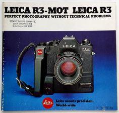 Vintage Leica Leitz R3-MOT Perfect Photography Catalog Brochure Bodies Lenses