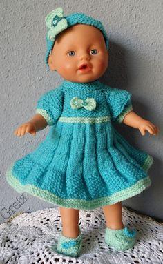 zelf gemaakt voor mijn pop:kleine Baby Born-32cm-setje-turkoois