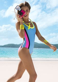 Uploaded by Love Sweat Fitness. Find images and videos about girl, love and cute on We Heart It - the app to get lost in what you love. One Piece Swimwear, One Piece Swimsuit, Love Sweat Fitness, Spring Summer, Summer Time, Neon, Designer Swimwear, Bikini Fashion, Monokini