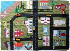 TONS of examples of different kinds of road playmats to make