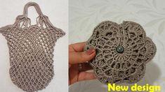 Crochet Market Bag, Crochet Tote, Free Crochet, Knit Crochet, Fabric Crafts, Sewing Crafts, Knitting Patterns, Crochet Patterns, Net Bag