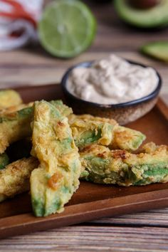 Gluten-Free Avocado Fries with Chipotle-Lime Sour Cream - Shared Appetite