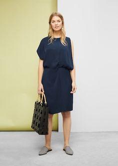 Asymmetrical sleeve dress - Dresses  Plus sizes | Violeta by MANGO USA