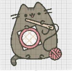 counted cross stitch tips Kawaii Cross Stitch, Mini Cross Stitch, Simple Cross Stitch, Beaded Cross Stitch, Cross Stitch Animals, Cross Stitch Embroidery, Embroidery Patterns, Counted Cross Stitch Kits, Cat Cross Stitches