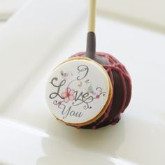 Valentine's Day Gift Red Velvet Dark Choco Cakepop Cake Pops
