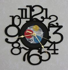 Vinyl Record Album LP into Decorative Wall Clock