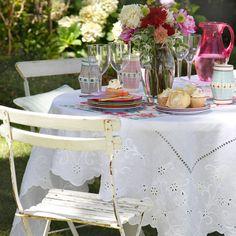 almoço no jardim