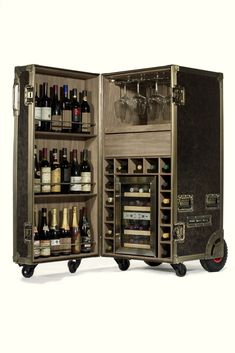 """Receive fantastic suggestions on """"bar furniture ideas houses"""". They are actually available for you on our website. Wine Bar Cabinet, Wine Cabinets, Cabinet Furniture, Home Decor Furniture, Furniture Ideas, Flight Case, Armoire Bar, Portable Bar, Steamer Trunk"""