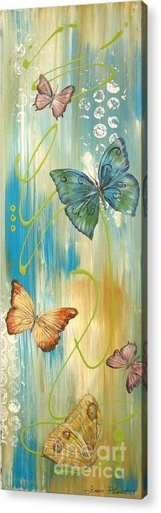 Butterfly Acrylic Print featuring the painting Butterfly Bliss 1 by Jean Plout