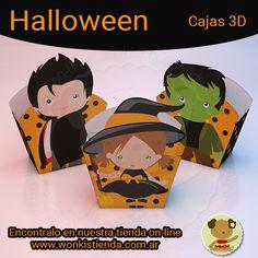 Regala golosinas para Halloween en hermosas  Cajas 3D #halloween #caja3d #imprimibles #cajasimprimibles