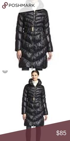 """Via Spiga down coat with gold hardware Down with gold hardware- 1"""" flaw Via Spiga Jackets & Coats Puffers"""