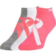 Under Armour Women's HeatGear Power in #Pink Socks 3-Pack