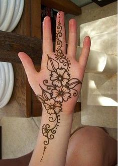 Image result for flower henna
