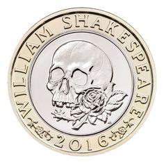 2016 400 Aniversario de la Muerte de William Shakespeare Dos Libras 'Tragedia' Inversión de Moneda