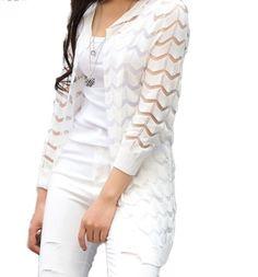 1509be75c16 Lehký cardigan přehoz přes tričko s proužky bílý – SLEVA 50 % + POŠTOVNÉ  ZDARMA Na